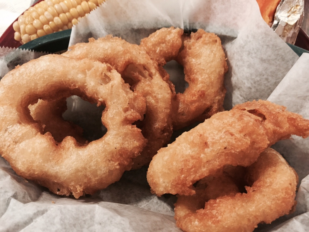 Fried Onion Rings at Mountain Rest Cafe South Carolina
