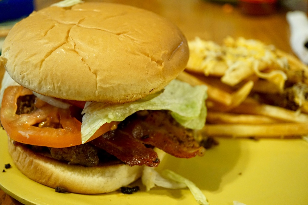 Mountain Burger at Mountain Rest Cafe